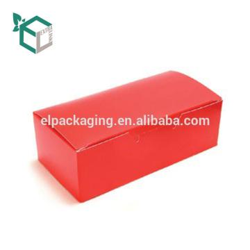 Дешевые оранжевый цвет печать коробка лоснистой отделкой складывая упаковывая