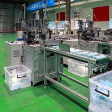 Máquina para fabricar máscaras de venta caliente con control PLC