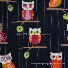 100% tecido de flanela de algodão para pijamas com animal impresso (C20X10 / 40X42)