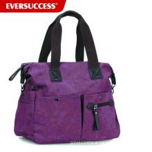 Mulheres texturizadas lona multi bolso bolsa de ombro, bolsa de moda de lona (hcsd0002)