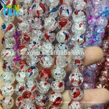 bead landing handmade 8mm mixed color flower lampwork glass crackle beads