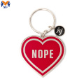 Metalen Custom Design Heart Enamel Keychain