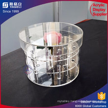 High Quality Luxury Acrylic Round Rose Box Decorative Box