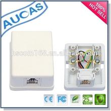 2 port RJ45 modular surface jack / distribution box junction box / keystone jack modular jack
