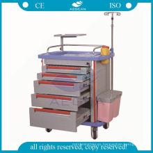 Nueva condición ce abs material con carro de carretilla hospitalaria poste iv