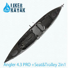 Roto Moulding LLDPE/HDPE Kayak Motor Available to Free Hands with Soft Seat (including trolley)