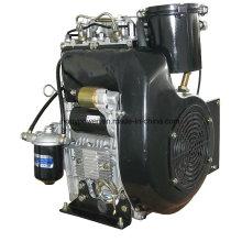 20HP 15kw refroidi à l'air à deux cylindres à moteur diesel