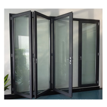 Grey color 2020 hot sale product tempered clear glass aluminium folding door price