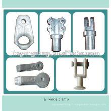 suspension isolant pince de terminaison isolation de câble pince de serrage accessoires d'isolateur électrique