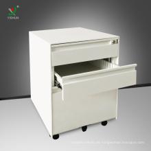 Büro-Stahlmöbel, die 3 Fach-beweglichen Sockel-Kabinett archivieren
