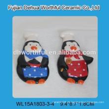 2016 Dekorative Pinguin Chef Design Keramik Kühlschrank Magnete