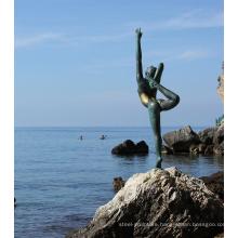 Modern design ballet dancer sculpture bronze