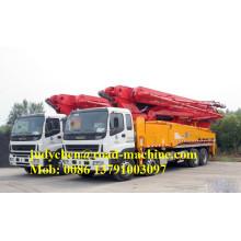 Boom de contrôle automatique de camion de pompe à béton 48m
