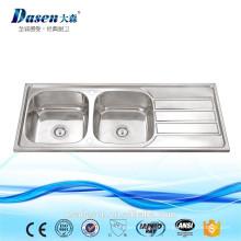 Edelstahl-Wäscherei-Doppelt-Schüssel mit Waschbecken-waschendem Küchen-Becken für TEKA Soem-Wanne in Thailand