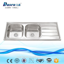 Stainless Steel Laundry Double Bowl With Drainboard Washing Kitchen Basin FOR TEKA OEM Sink In Thailand