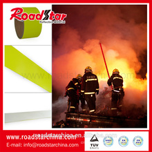 Fluorescent yellow fire resistant reflective fabric