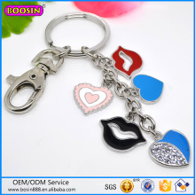 Custom High Quality Red Clip Charm Keychain Hot Sale #19628