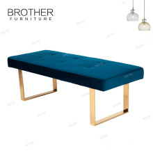 Different kinds of stainless steel frame furniture home bench ottoman sofa