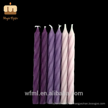 High-end Cake Decoration PURPLE Ombre Spiral Birthday Candles For Sale
