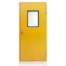 1.0 galvanized steel plate single steel door for hospital ward doors
