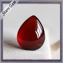 Garnet natural vermelho da grandada pura da gota do rasgo para a jóia da forma