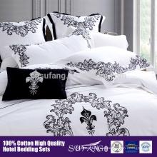 cinco Comienzo Hotel ropa de cama bordado patrón de flores conjunto de cama