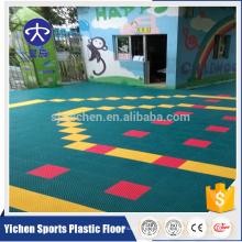 Jardim de infância ao ar livre suspender piso saudável pp telhas de bloqueio