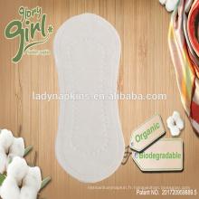 Surface de coton organique naturel en gros usine de doublures Panty Ladies Chine