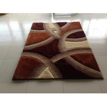 Home Textile Stretch Soie Shaggy Tapis et tapis