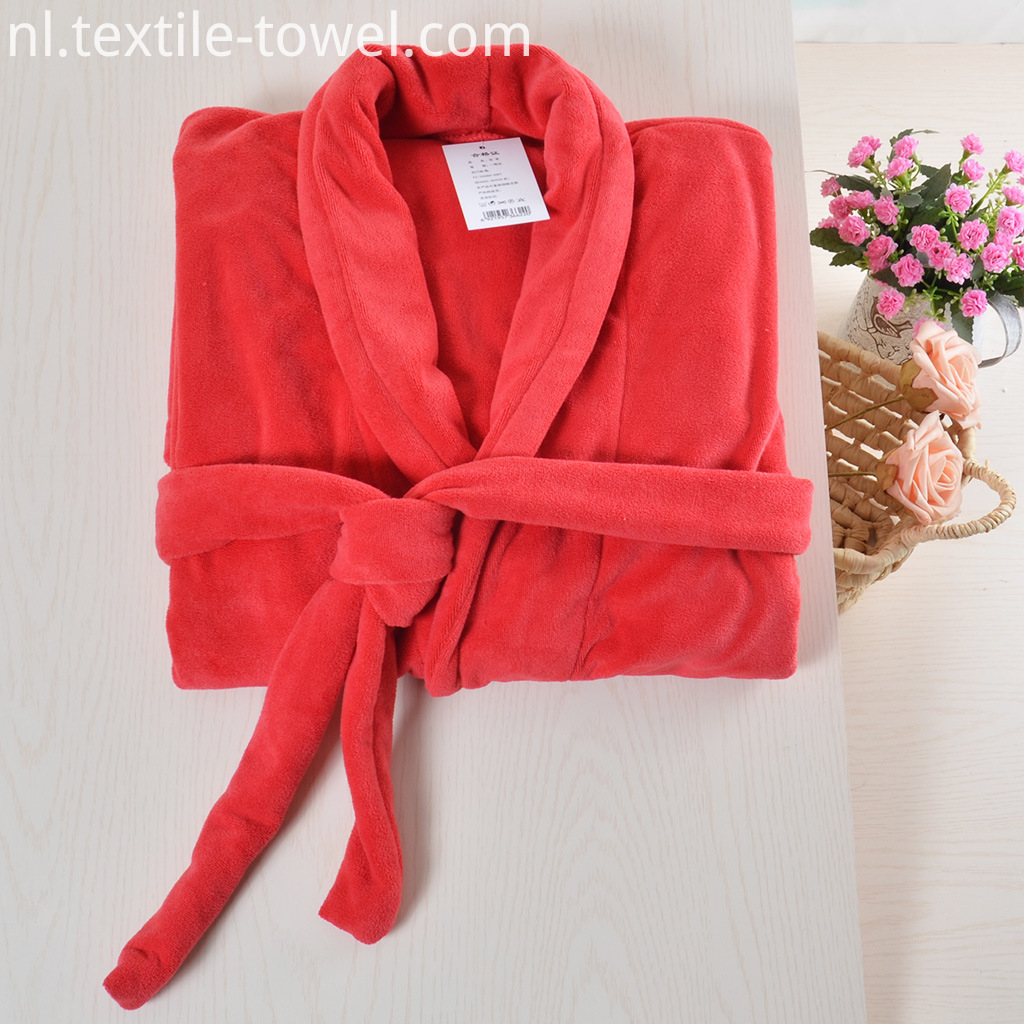 Red Womens Bathrobe