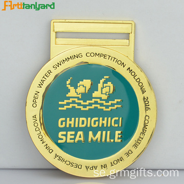 Promotional Gold Medal med kundlogo