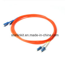 LC à LC Om2 50/125 Cordon de connexion multimédia à fibre optique