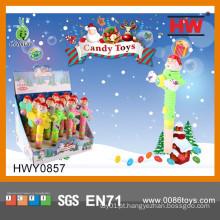 Engraçado Natal plástico Soft Candy Fan Toy (caixa de 12pcs / Display)