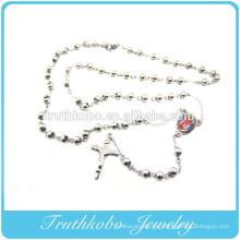 Joyas con cuentas de rosario de acero o oro de 6 mm para Amerian