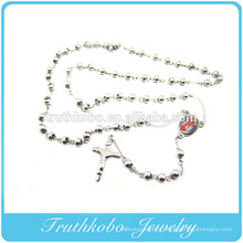 Bijoux de perle de chapelet de couleur d'acier ou d'or de 6mm pour l'amérian