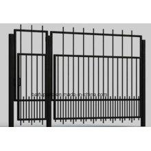 Puertas metálicas de hierro Gate Gate HDG con extremo afilado para la seguridad
