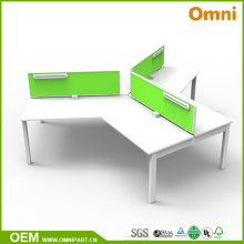 New Style 120 Degree Office Furniture Table for Three Person