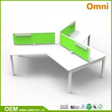 Mesa de mobiliário de escritório de estilo novo de 120 graus para três pessoas