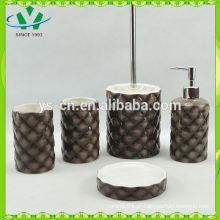 Acessórios de banho de pedra natural de design de luxo conjuntos