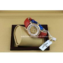 Fashion Diamond Skeleton Automatic Ladies Wrist Watch