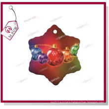 Sublimation White Porcelain Snowflake with Personalized Photo