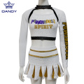 Jugend Gold AB Crystals Cheerleading Outfits