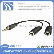 3,5 мм для двухдюймового 2-жильного стерео Y Разветвительного адаптера кабеля