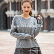 woman's cashmere cable knitting sweater