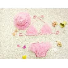 Pink Little Girl′s Fashion Swimwear