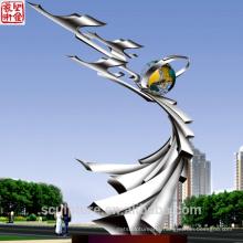 Mirror Garden Landscape Sculpture Stainless Steel Garden Sculpture
