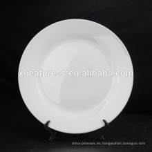 """Sublimación personalizada de 8 """"Placa de cerámica en blanco"""