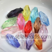 Hot 6*11MM Colored Faceted Cut Pandora Beads