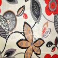 Ткань для дивана из полиэстера и нубука с микрозамшей и принтом