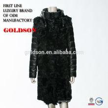 Fox fur coat real lady winter 2017 Russian market